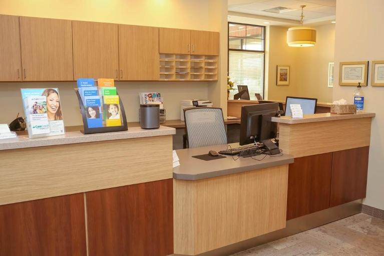 Patient Checkout and Scheduling Area