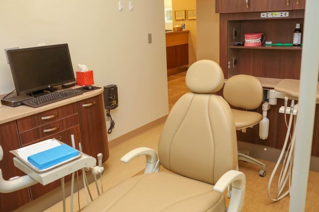 The exam chair at Bethlehem Town Family Dental in Glenmont, NY