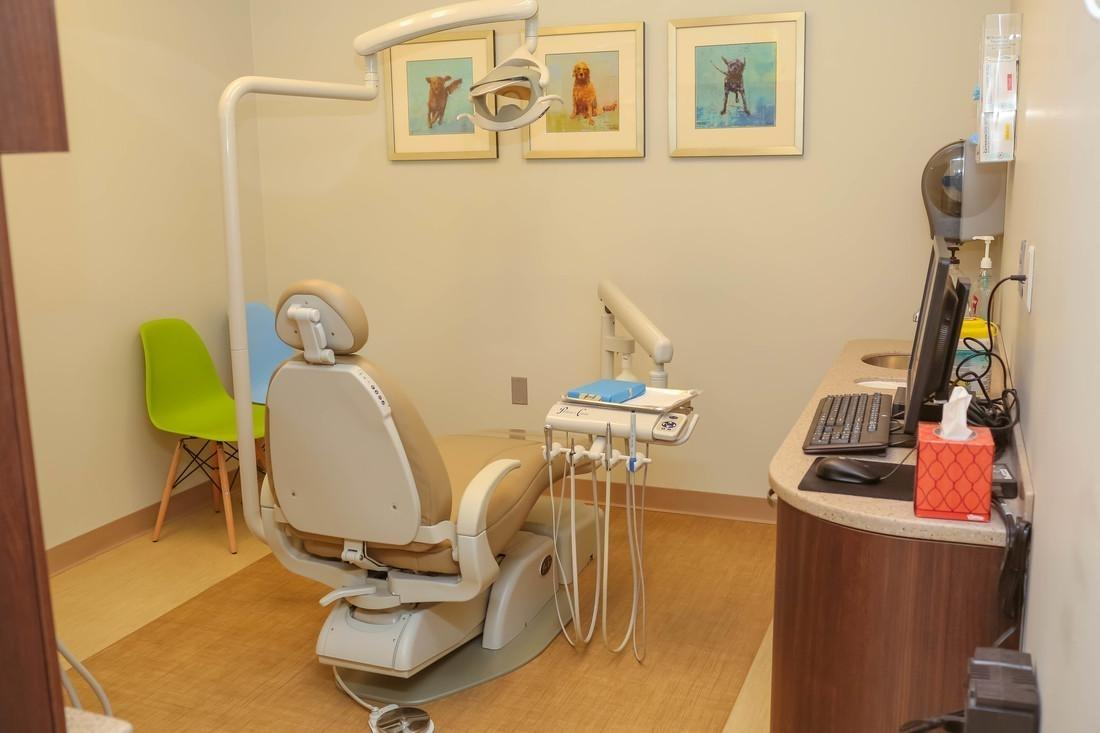 The exam room at Bethlehem Town Family Dental in Glenmont, NY